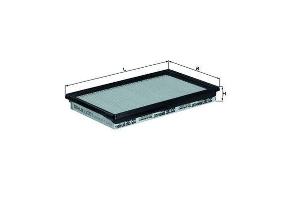 0076599112 KNECHT Filtereinsatz Länge über Alles: 281,0mm, Breite: 168mm, Höhe: 34mm Luftfilter LX 307 günstig kaufen