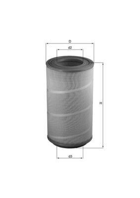 LX 1025 KNECHT Luftfilter für GINAF online bestellen