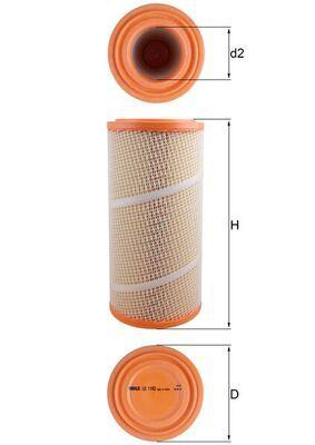 0076544720 KNECHT Filtereinsatz Höhe: 350mm Luftfilter LX 1142 günstig kaufen