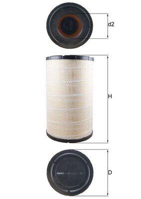 LX 1243 KNECHT Luftfilter für GINAF online bestellen