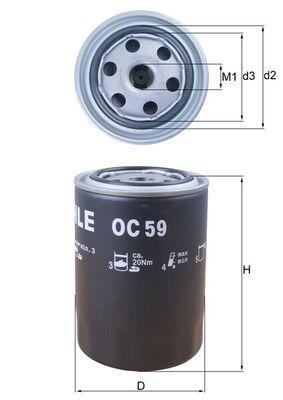 OC 59 KNECHT Ölfilter für FORD online bestellen
