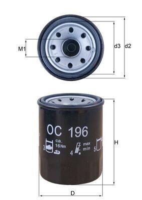 0078636342 KNECHT Anschraubfilter Innendurchmesser 2: 55mm, Außendurchmesser 2: 63mm, Ø: 65,5mm, Höhe: 87mm, Höhe 1: 85mm Ölfilter OC 196 günstig kaufen