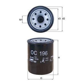 0078636342 KNECHT Anschraubfilter Innendurchmesser 2: 54,5mm, Außendurchmesser 2: 62,9mm, Ø: 65,5mm, Höhe: 86,5mm, Höhe 1: 85,0mm Ölfilter OC 196 günstig kaufen