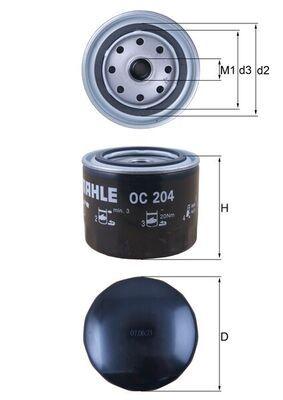 0077493752 KNECHT Anschraubfilter Innendurchmesser 2: 62mm, Innendurchmesser 2: 62mm, Ø: 93,2mm, Außendurchmesser 2: 72mm, Ø: 93,2mm, Höhe: 81mm Ölfilter OC 204 günstig kaufen