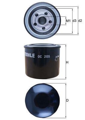 0078635682 KNECHT Anschraubfilter Innendurchmesser 2: 52mm, Innendurchmesser 2: 52mm, Ø: 76,0mm, Außendurchmesser 2: 63mm, Ø: 76,0mm, Höhe: 74mm Ölfilter OC 205 günstig kaufen