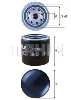 OC 236 KNECHT Ölfilter für AVIA online bestellen