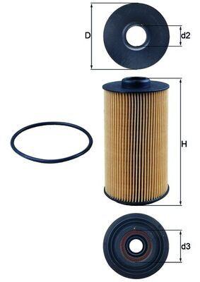 Motorölfilter KNECHT OX 152/1D