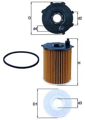 OX1712D Filtro olio motore KNECHT 0078559700 - Prezzo ridotto