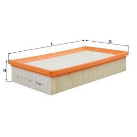 0076828529 KNECHT Filtereinsatz Länge über Alles: 298,0mm, Breite: 172,0mm, Höhe: 56,9mm Luftfilter LX 1649 günstig kaufen