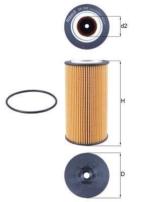 Motorölfilter KNECHT OX 358D