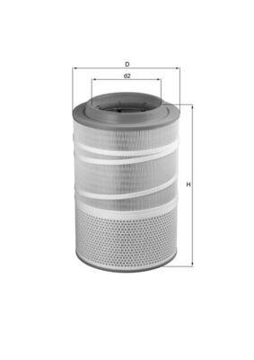 LX 1278 KNECHT Luftfilter für GINAF online bestellen