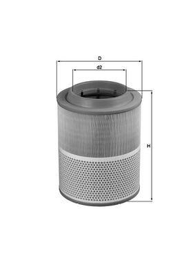 LX 1072 KNECHT Luftfilter für GINAF online bestellen