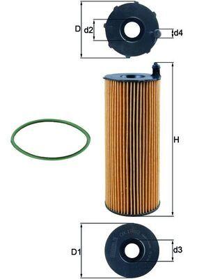 Ölfilter KNECHT OX 196/3D