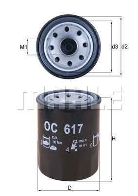 0070384190 KNECHT Anschraubfilter, mit einem Rücklaufsperrventil Ø: 65,0mm, Ø: 65,0mm, Höhe: 86mm Ölfilter OC 617 günstig kaufen