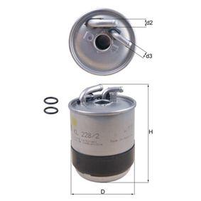 0076832414 KNECHT Leitungsfilter Höhe: 128,75mm Kraftstofffilter KL 228/2D günstig kaufen
