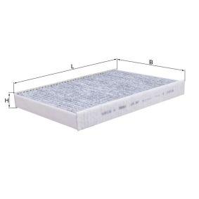 LAO387 KNECHT aktivtkolfilter B: 193,0mm, H: 30,0mm Filter, kupéventilation LAK 387 köp lågt pris