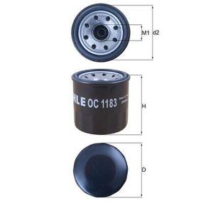 0070598752 KNECHT Anschraubfilter Innendurchmesser 2: 54,5mm, Ø: 65,5mm, Höhe: 66,2mm Ölfilter OC 1183 günstig kaufen