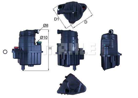 0070560437 KNECHT Leitungsfilter Höhe: 188mm Kraftstofffilter KL 832D günstig kaufen