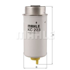 0070341759 KNECHT Anschraubfilter Höhe: 195,7mm, Gehäusedurchmesser: 79,3mm Kraftstofffilter KC 223 günstig kaufen