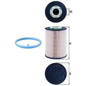 00KX393DECO KNECHT Filtereinsatz Höhe: 112,5mm Kraftstofffilter KX 393D günstig kaufen