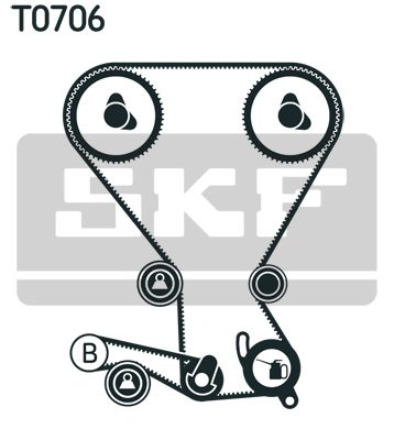 VKMT956662 SKF Zähnezahl 1: 153, mit Spanndämpfer, Spannrolle Zahnriemensatz VKMA 95974-1 günstig kaufen