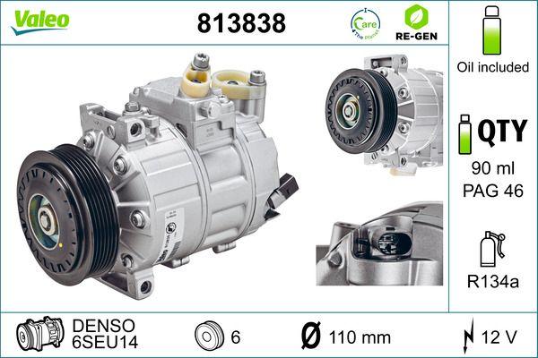 Kompressor Klimaanlage VALEO 813838