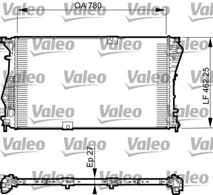 735599 VALEO Aluminium Kühler, Motorkühlung 735599 günstig kaufen