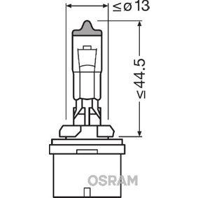 Lyspære, hovedlyskaster OSRAM 880 PG13, 12V, 27W, ORIGINAL