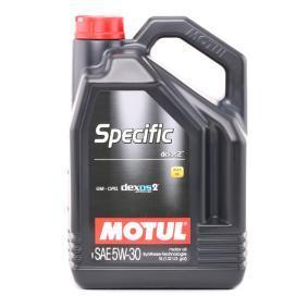 SPECIFICXOS25W30 MOTUL SPECIFIC, DEXOS2 5W-30, 5l, Óleo sintético Óleo do motor 102643 comprar económica