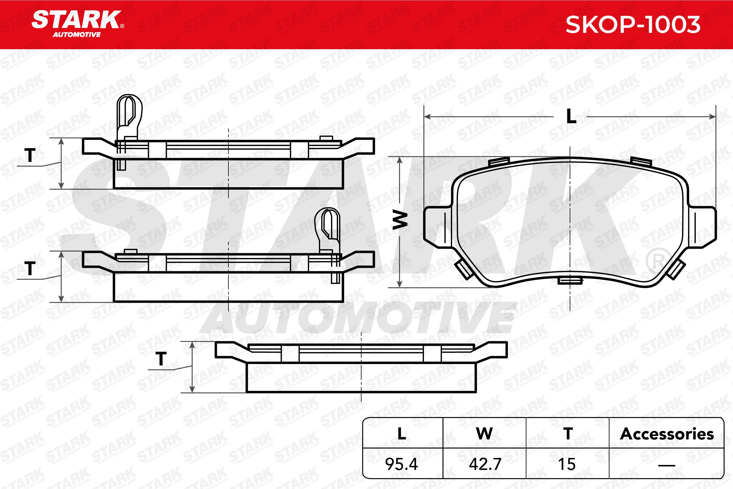 STARK   Bremsbelagsatz, Scheibenbremse SKOP-1003