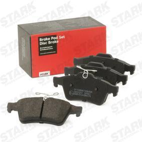 SKFO-1007 STARK Hinterachse, mit Anti-Quietsch-Blech Höhe: 52mm, Breite: 123,1mm, Dicke/Stärke: 16,6mm Bremsbelagsatz, Scheibenbremse SKFO-1007 günstig kaufen