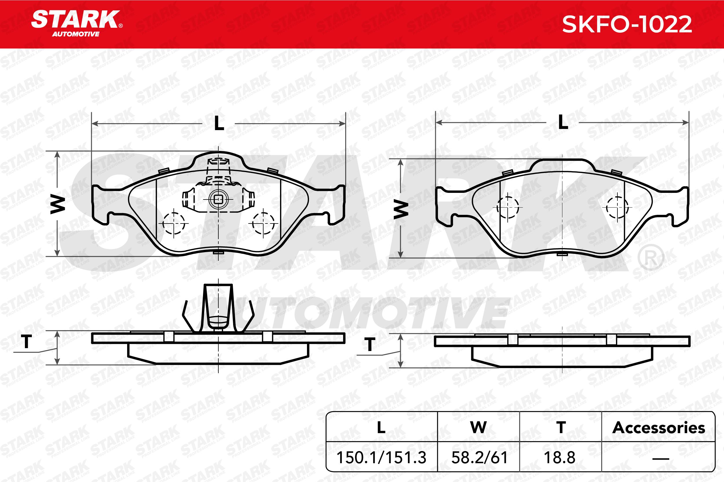 STARK   Jogo de pastilhas para travão de disco SKFO-1022