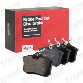 Kupi SKAD-1028 STARK Zadnja prema, ni predpripravljen za opozorilnik obrabe Visina: 53mm, Sirina: 87mm, Debelina: 17,2mm Komplet zavornih oblog, ploscne (kolutne) zavore SKAD-1028 poceni
