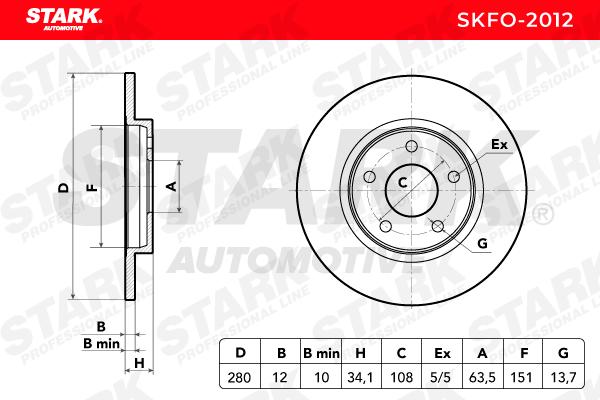 SKFO-2012 Disco freno STARK Test