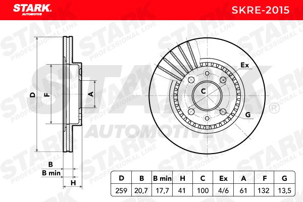 Bremsscheibe SKRE-2015 von STARK