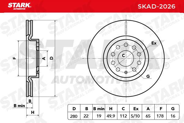 Bremsscheibe STARK SKAD-2026 Bewertungen