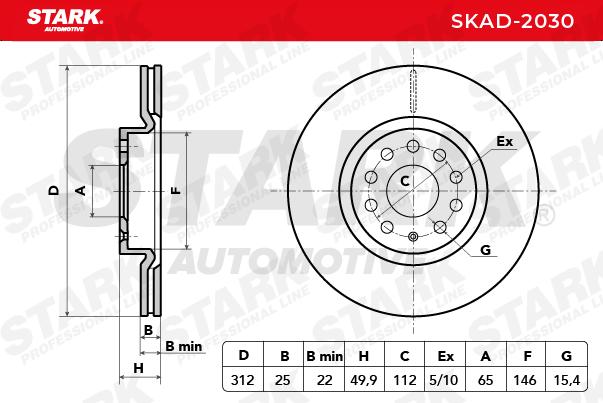 Bremsscheibe SKAD-2030 von STARK