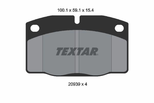 Bremsbeläge TEXTAR 2093903