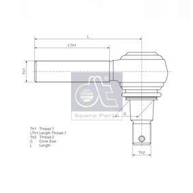 DT Testa barra d'accoppiamento 119011: compri online