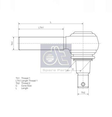 DT | Spurstangenkopf 2.53012
