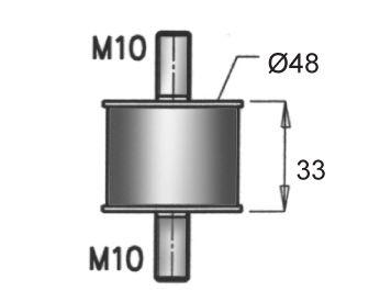 Gummistreifen, Abgasanlage DINEX 64817