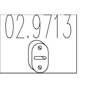 Compre e substitua Batente de encosto, silenciador MTS 02.9713