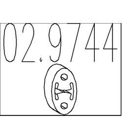 Compre e substitua Batente de encosto, silenciador MTS 02.9744