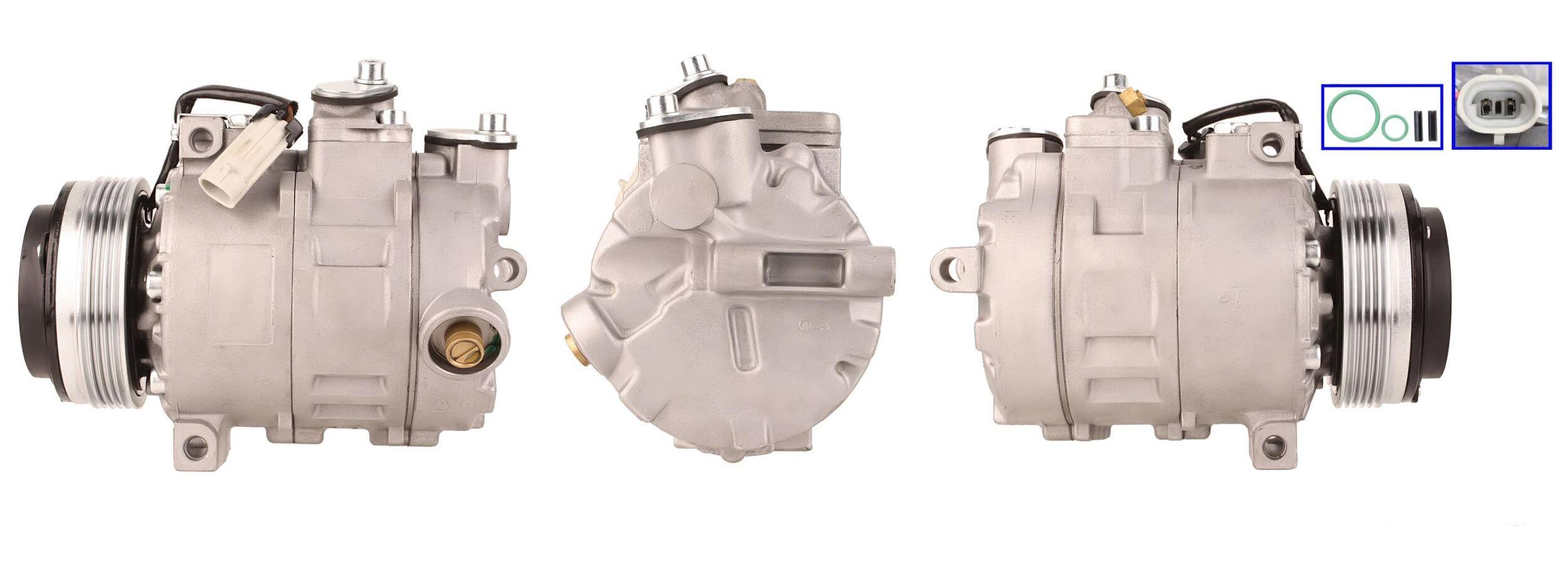 51-0110 ELSTOCK Kältemittel: R 134a, mit Dichtungen Riemenscheiben-Ø: 109mm, Anzahl der Rillen: 5 Klimakompressor 51-0110 günstig kaufen