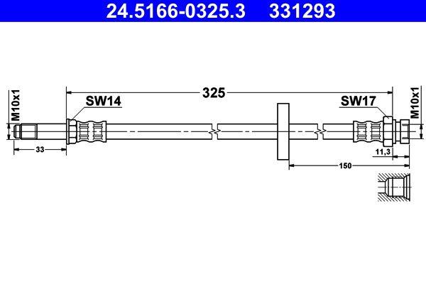 ATE Bremsschlauch 24.5166-0325.3