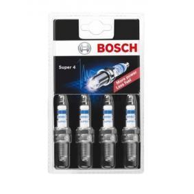 Comprare 519 BOSCH Super 4 Dist. interelettrod.: 1,0mm Candela accensione 0 242 222 802 poco costoso