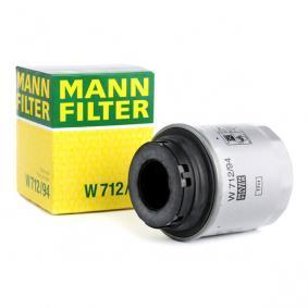 W 712/94 MANN-FILTER mit zwei Rücklaufsperrventilen Ø: 76mm, Höhe: 79mm Ölfilter W 712/94 günstig kaufen