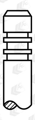 Köp AE V94116 - Inloppsventil till Skoda: Härdad ventilskaftsända, Härdat väntilsäte
