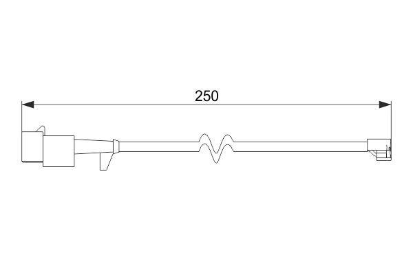 BOSCH: Original Verschleißsensor Bremsbelag 1 987 474 574 (Länge: 250mm)