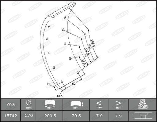 Handbremse BERAL 1503008006015613